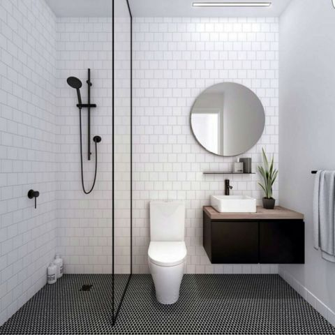 Small Bathroom Tile Ideas Photos best 10+ black tile bathrooms ideas on pinterest | white tile