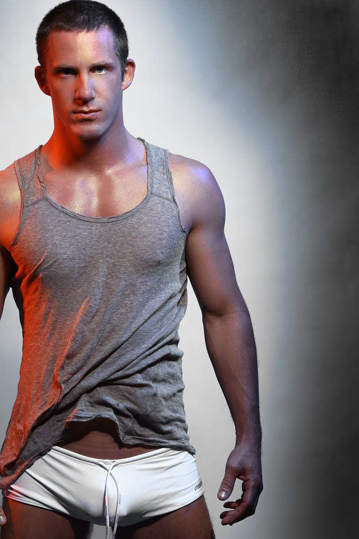 Tough...: Hot Male, Ohai Boys, Grey Tanks, Tank Tops, Underwear, Tanks Tops, Sexy Men, Hot Guys, Male Models