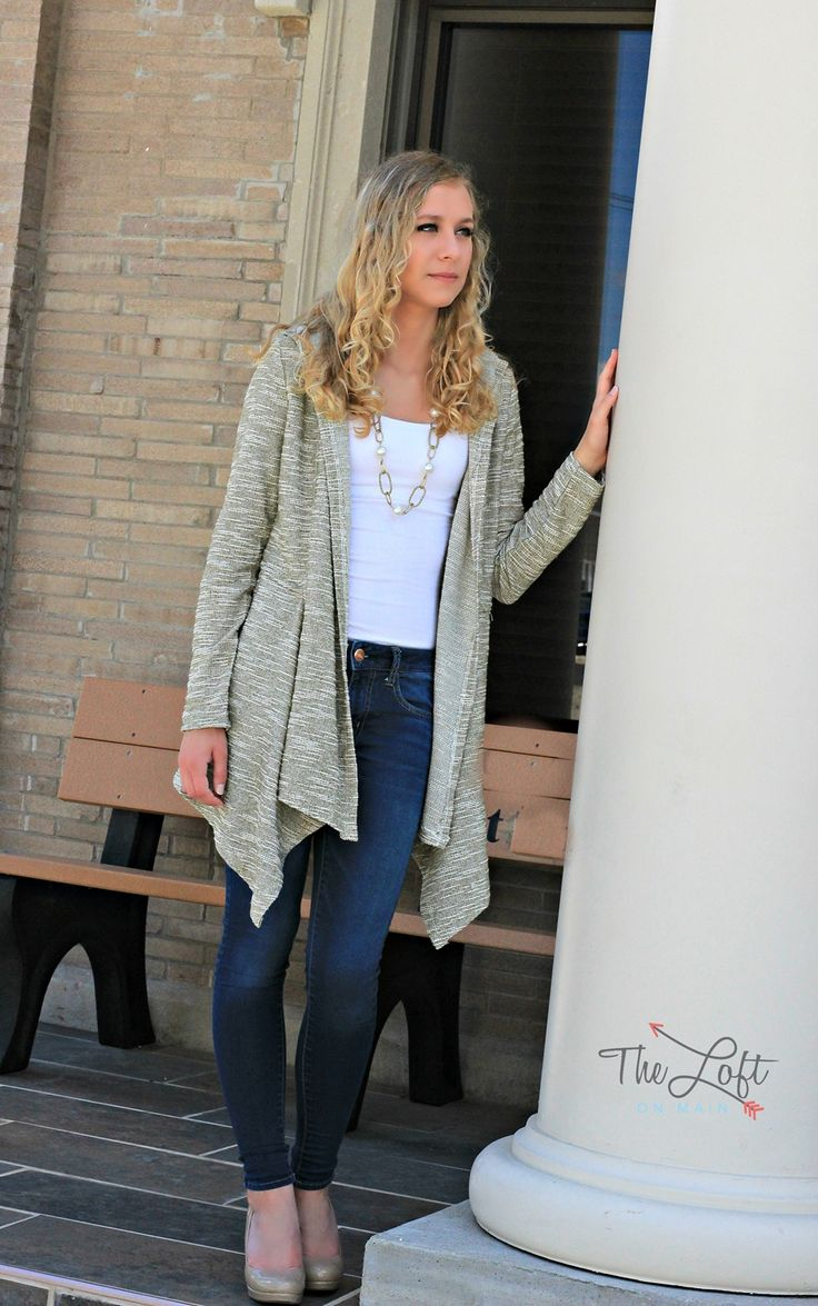 Such a great cardigan for fall...  Shop this look at The Loft in store or online...