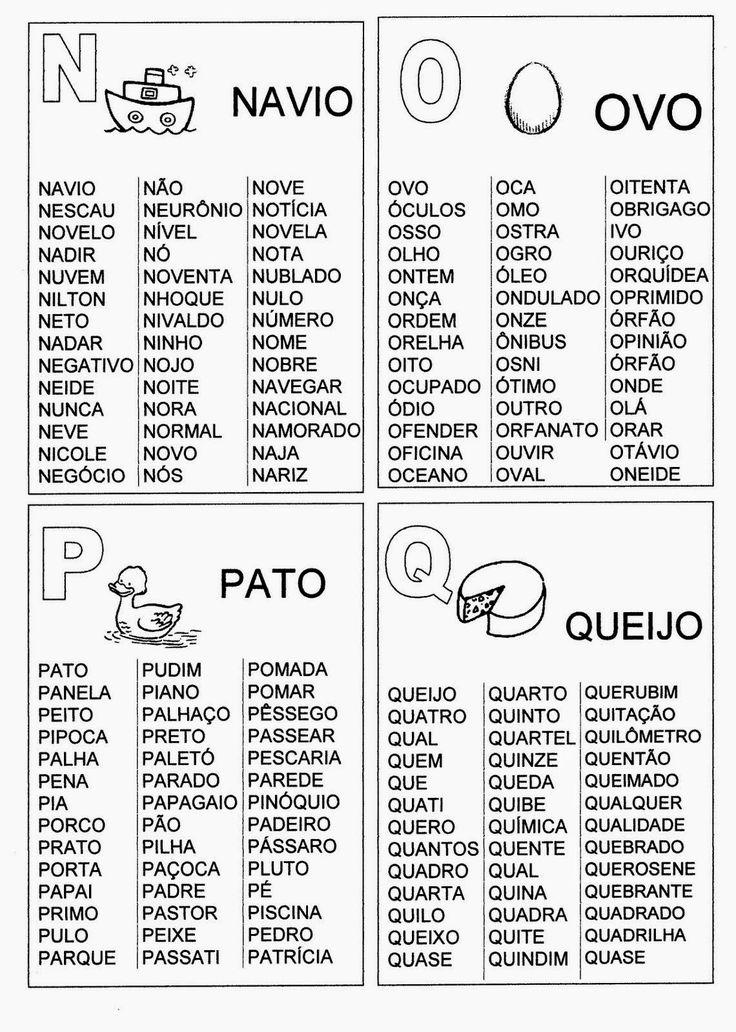 ESPAÇO EDUCAR: Fichas de Leitura para imprimir - Atividade de alfabetização