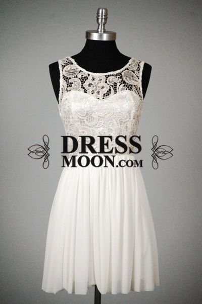 I like this - A Line Scoop Lace Chiffon Graduation Dresses. Do you think I should buy it?