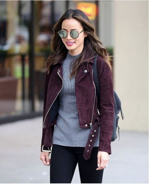 A gorgeous take on the classic leather moto jacket...the BLANKNYC Suede Moto in…