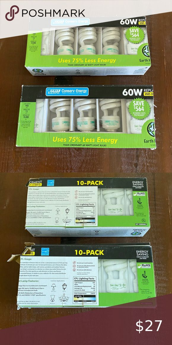 Set of 10 conserv energy feit electric 60 w bulbs in 2020