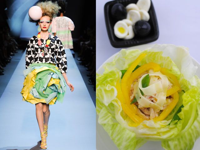Christian Dior Haute Couture fw 2011-12 / Crunchy salad with chicken, peppers and cheese