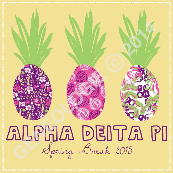 Geneologie | Greek Tee Shirts | Greek Tanks | Custom Apparel Design | Custom Greek Apparel | Sorority Tee Shirts | Sorority Tanks | Sorority Shirt Designs  | Sorority Shirt Ideas | Greek Life | Hand Drawn | Sorority | Sisterhood | Spring Break | Pineapple | Pattern | ADPi | Alpha Delta Pi | Fruit