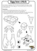 Egg box chick - Easter Worksheet