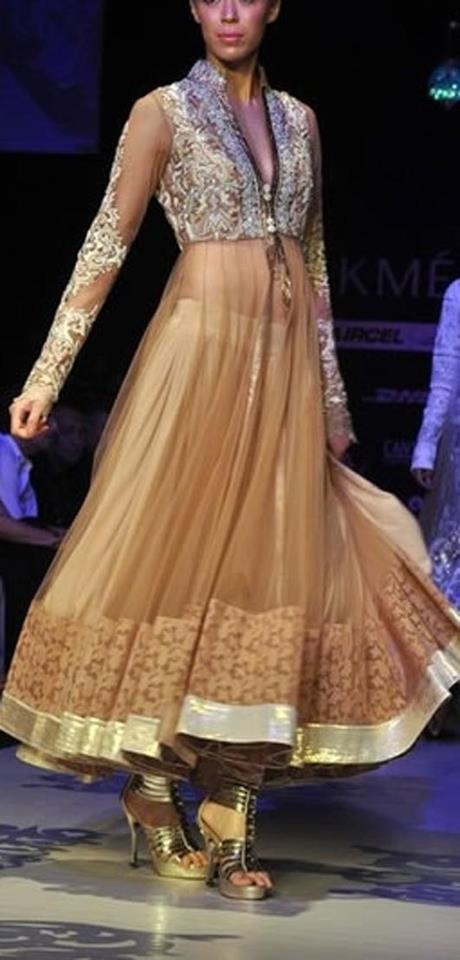 beige Indian outfit