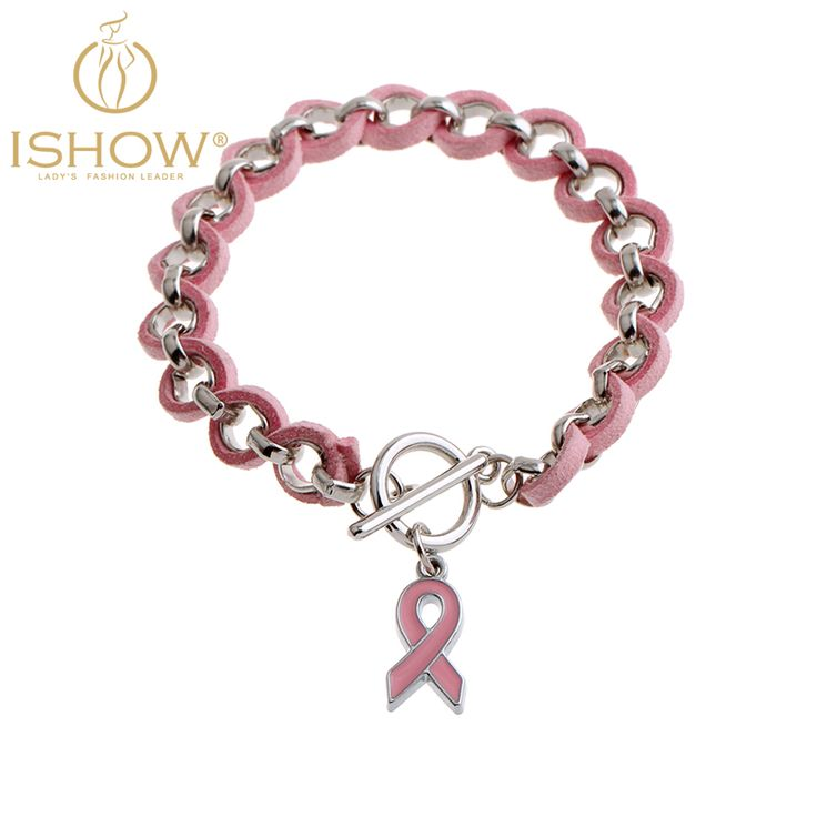 New silver bracelet brazaletes pulseras mujer charm bracelets Breast Cancer Awareness handmade jewelry collares bijoux 2016