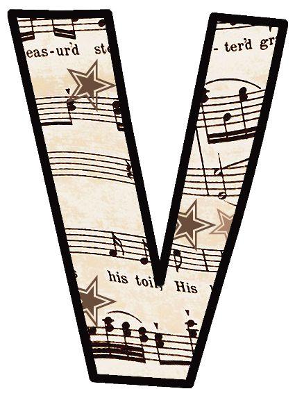 ArtbyJean - Vintage Sheet Music: ---ALPHABET SETS
