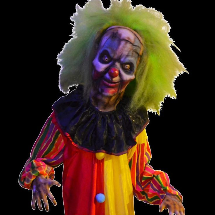 4 foot 6 in height glass eyes comes with all you see here over sized clown - Halloween Props 2016
