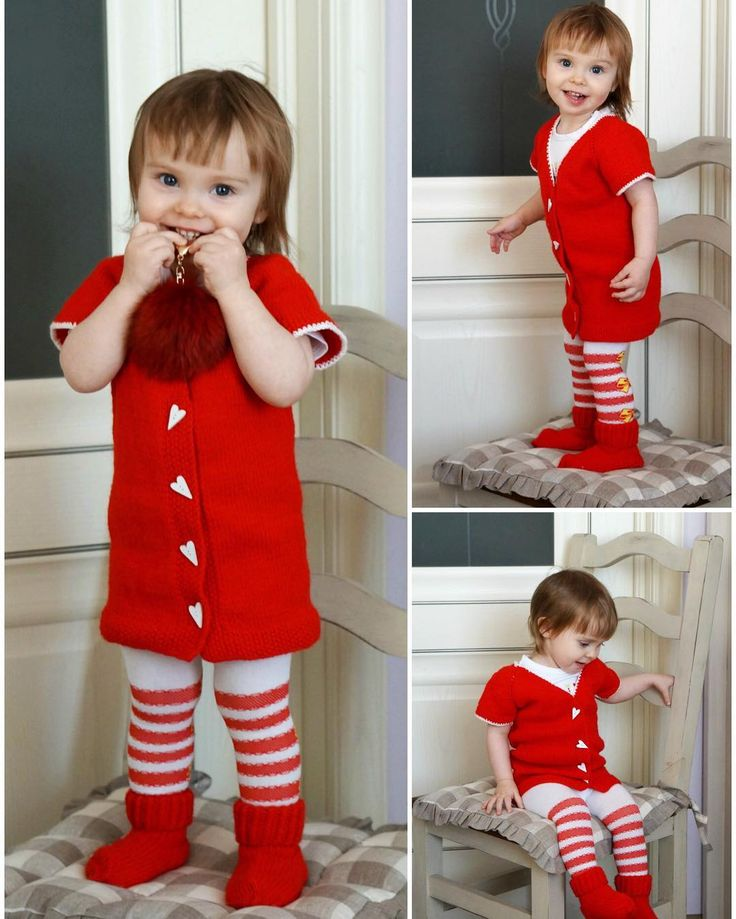 Cute Valentine's day or Christmas outfit for girl, kids fashion