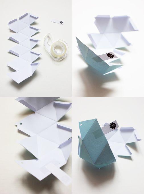 diy calendrier de l 39 avent monkeychoo 2013 xmas time navidad pinterest noel origami. Black Bedroom Furniture Sets. Home Design Ideas
