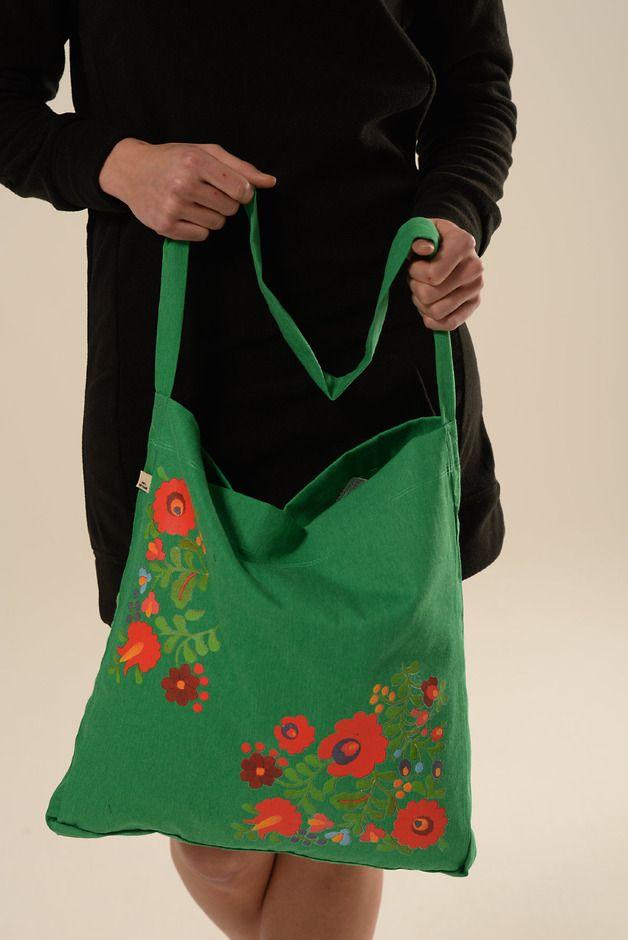 Bolsos al hombro - Bolsa de Folklore de la vendimia - hecho a mano por fadenrot en DaWanda