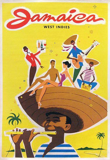 Vintage Travel Poster: Jamaica~ West Indies 1960