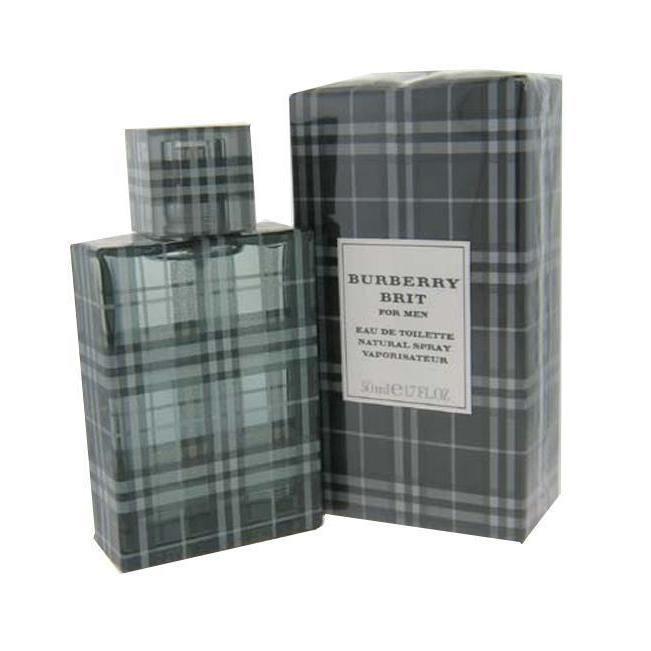 Burberry Brit Men's 1.7-ounce Eau de Toilette Spray (Burberry Brit by Burberry - Edt Spray for Men), Orange mandarin, Size 1.1 - 2 Oz.