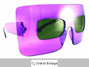Menagerie Big Square Sunglasses - 185 Purple