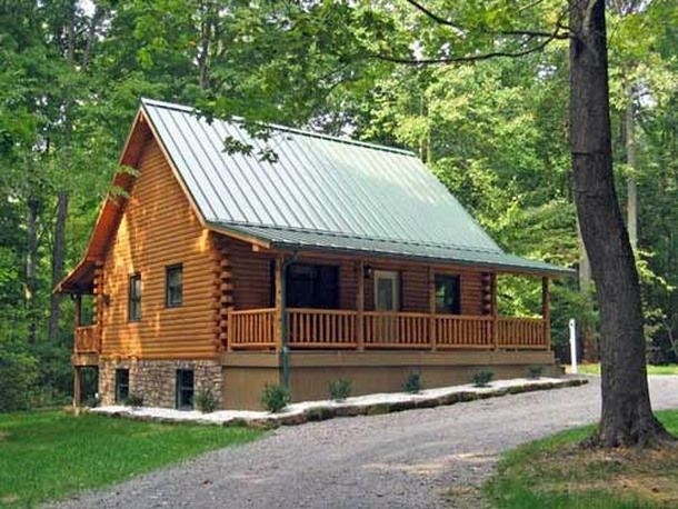 Small log homes small log home with loft http for Log cabin plans with loft