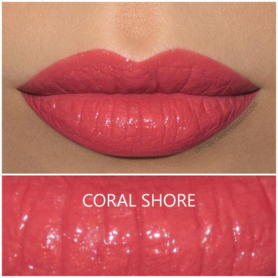 Shiseido Rouge Rouge lipstick in Coral Shore, review and swatch | Buy it here : http://rstyle.me/~9xCeT