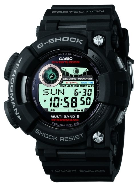 Casio G-Shock Frogman GWF1000-1 diving watch (front view)