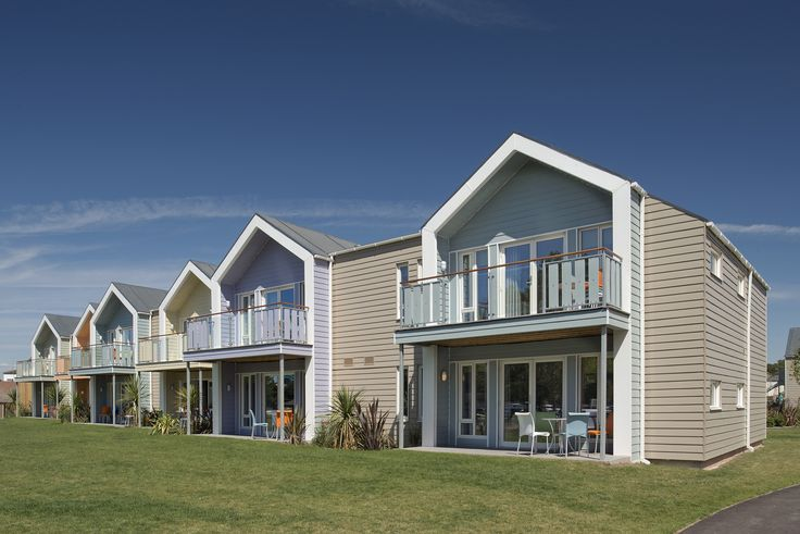 Marley Eternit's Cedral Lap weatherboard played a central role in the contemporary re-creation of the iconic Butlins' Minehead.  #Cedral #Lap