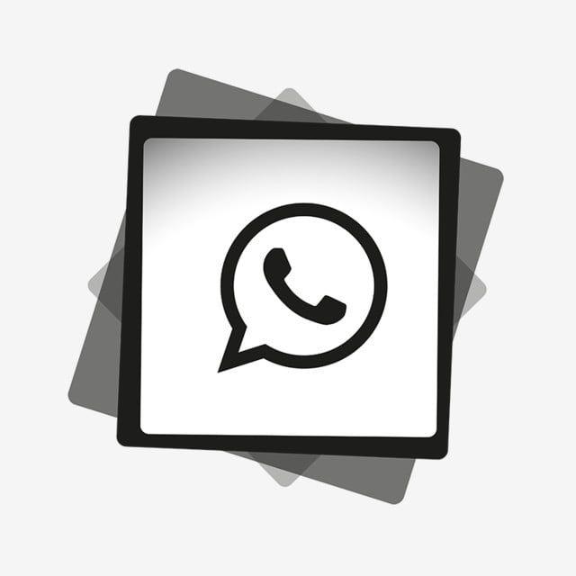 Whatsapp Black White Icon Whatsapp من رمز Whatsapp من الشعار واتس اب Png والمتجهات للتحميل مجانا Black And White Cartoon Black And White Background Icon