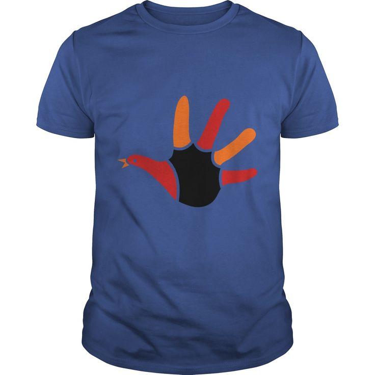 Thanksgiving hand turkey cute tshirt - Tshirt