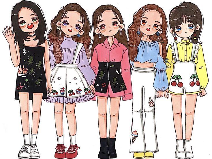 Gambar oleh Bbika pada Girls Illustration Animasi, Seni