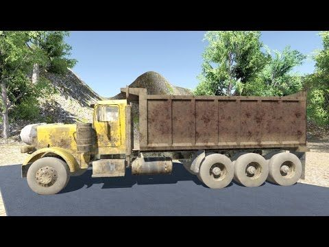 Unity - Dump Truck Off Road Test 2 With ( Truss Physics ) - YouTube