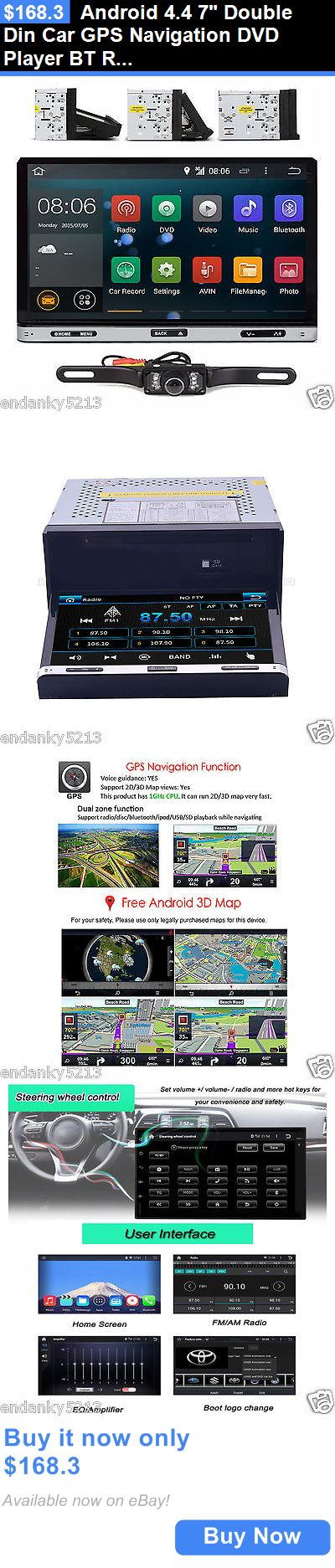 Video In-Dash Units w GPS: Android 4.4 7 Double Din Car Gps Navigation Dvd Player Bt Radio Stereo+Camera BUY IT NOW ONLY: $168.3
