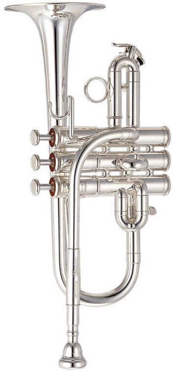 Yamaha YTR-9710 Custom G / F Piccolo Trumpet | Silver Finish