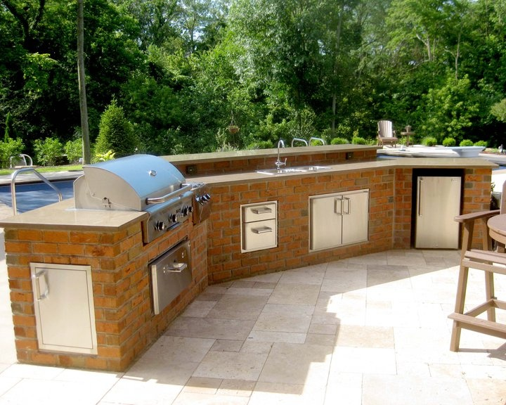 Beautiful outdoor kitchen by the pool!