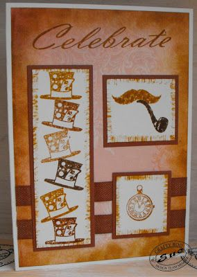 A great birthday card for a bloke stamped using the Vintage Minis stamp set from Crafty Roo designs