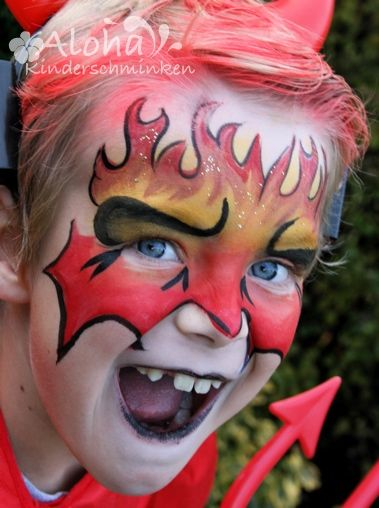 Face paint - devil
