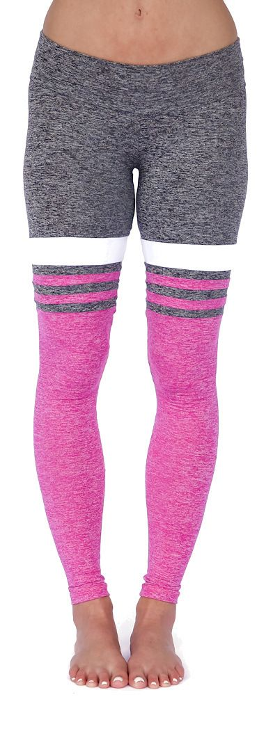 Grey Pink Baseball Print Workout Legging - Mia Brazilia Activewear