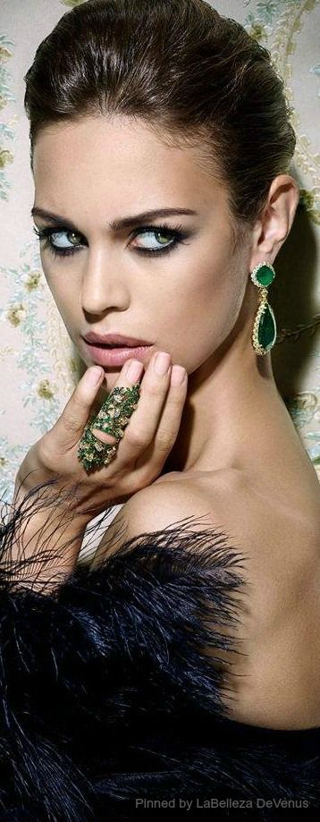 Noudar Garden Ring set in emeralds and diamonds, and Columbian Emerald Earrings | LBV ♥✤