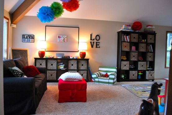 Really thinking about turning the living room into a playroom since we have such a good size family room.