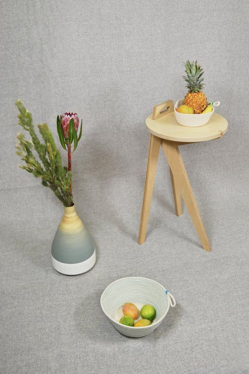 Carry - Natural Side Table by Leg Studios