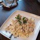 Recipe photo: Chicken tagliatelle in white wine sauce