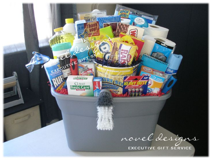 gift basket new home | HUGE New Home Gift Basket w/A Vast Array of Household Essentials Plus ...