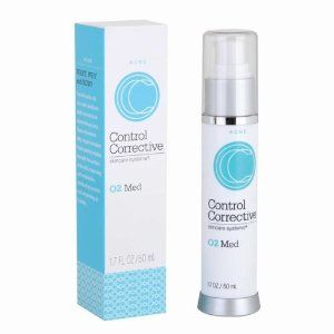 Control Corrective- 02 Med 1.7oz $40.00 For combination skin with stubborn adult, hormonal or premenstrual acne. Super-absorbent silky oxygen emulsion treats painful pimples beneath the surface of the skin, improving cell metabolism, disinfecting bacteria and rehydrating as it works.