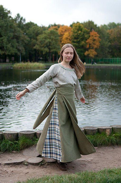 Купить Понева шерстяная (длинная юбка с запахом) - понёва, понева, длинная юбка, юбка в пол