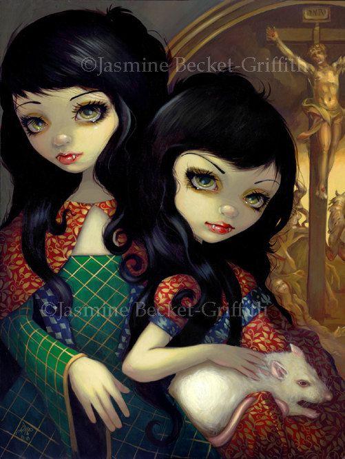 fairy vampire pictures | Vampiri: La Sorelle vampire sisters fairy art print by Jasmine ...