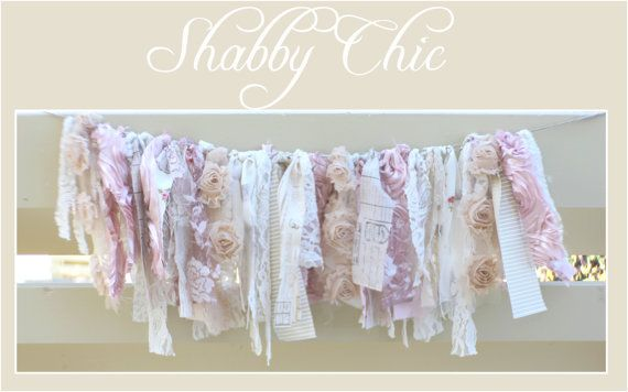 Shabby Chic Rag Banner by modernragquilts on Etsy, $25.00