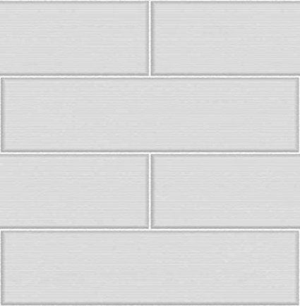 BHF FD40121 Ceramica Stria Tile Tapete in Fliesenoptik für Küche und Badezimmer, Cremefarben