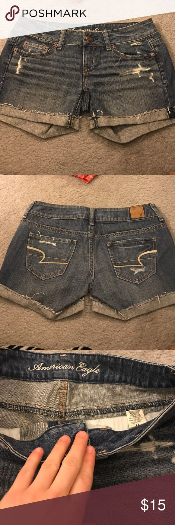 American Eagle jean shorts Brand new American Eagle jean shorts. No stains or holes other than the design of the shorts. American Eagle Outfitters Shorts Jean Shorts