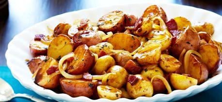 Balsamic Braised Baby Potatoes