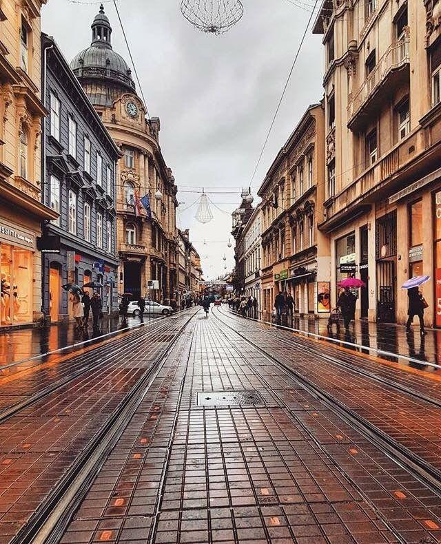 Pin By Jad Bebic On Beautiful Hrvatska Rainy Street Street Zagreb
