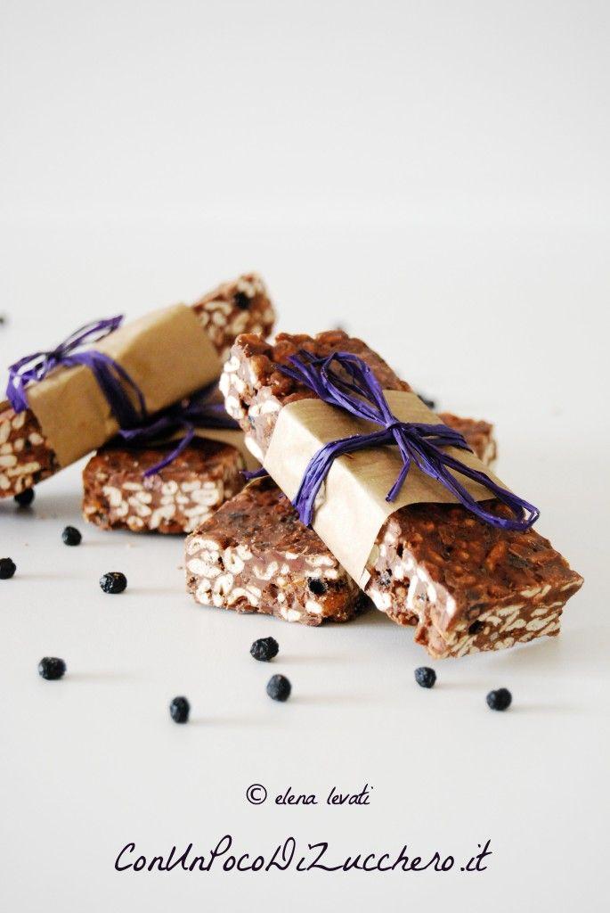 barrette al cioccolato senza cottura