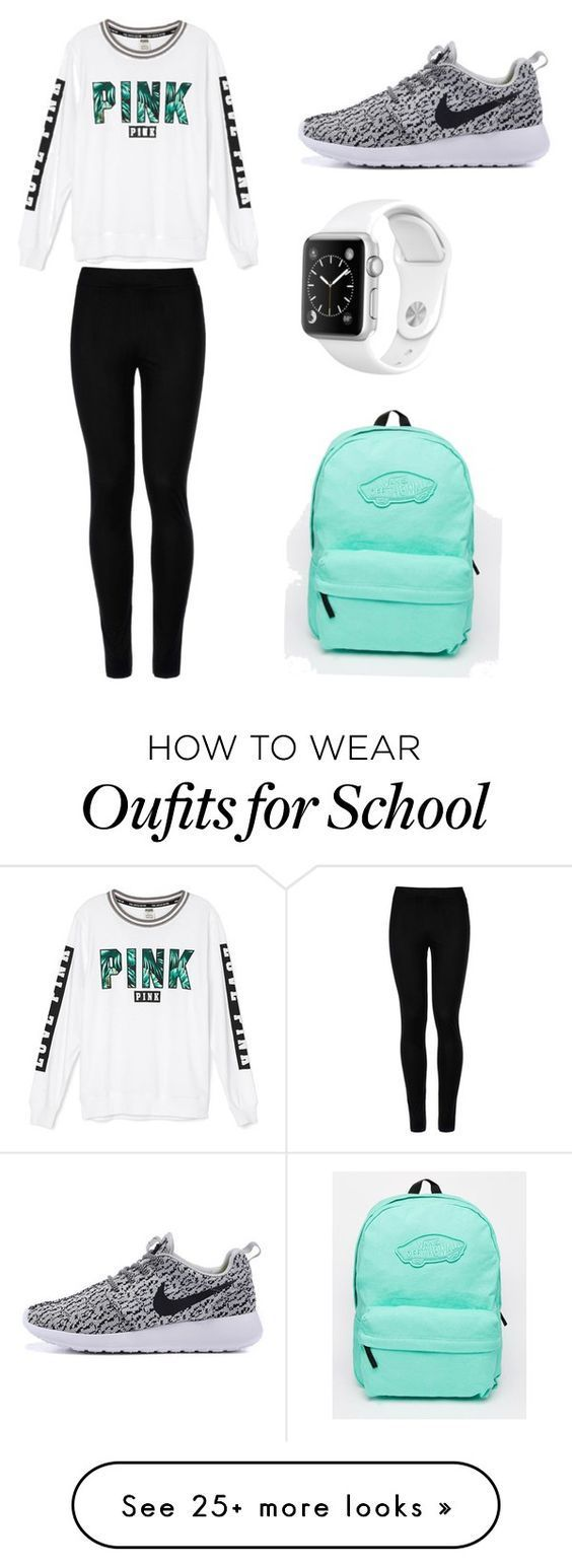 School day by mlkunz04 on Polyvore featuring Victorias Secret, Wolford and Vans · First Day Of School Outfit Highschool ...