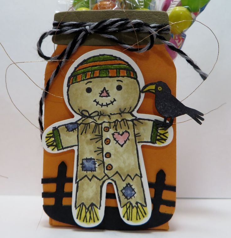 Stampin' Up Cookie Cutter Halloween Treat Holders designed by Lynn Gauthier using SU's Cookie Cutter Halloween, Halloween Scenes, Halloween Scares, Everyday Jars and Home Sweet Home. Go to lynnslocker.blogs... to see how these were made.